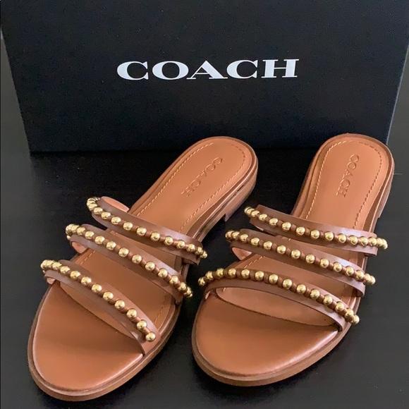 Isa Studded Leather Slide Sandal   Poshmark
